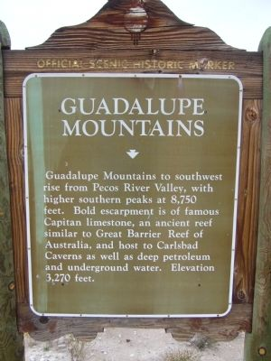 Guadalupe Mountains Marker image. Click for full size.