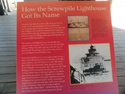 How the Screwpile Lighthouse Got Its Name Marker image. Click for full size.
