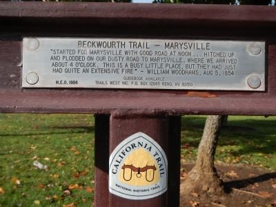 Beckwourth Trail – Marysville Marker image. Click for full size.