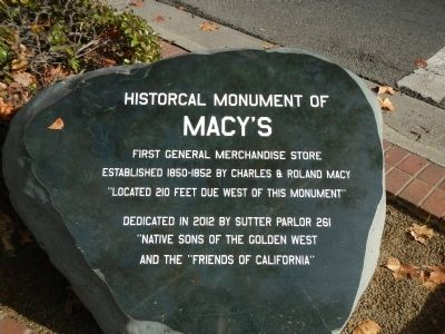 Historical Monument of Macy's Marker image. Click for full size.