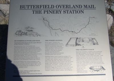 Butterfield Overland Mail / The Pinery Station Marker image. Click for full size.