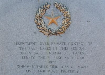 El Paso Salt War Marker image. Click for full size.