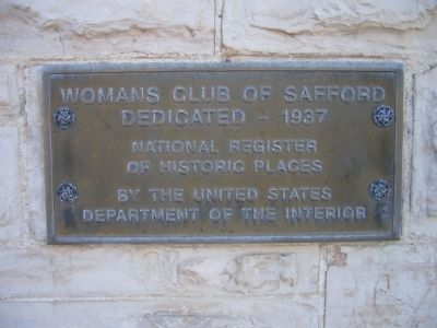 Womans Club of Safford Marker image. Click for full size.
