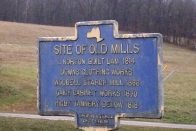 Site of Old Mills Marker image. Click for full size.