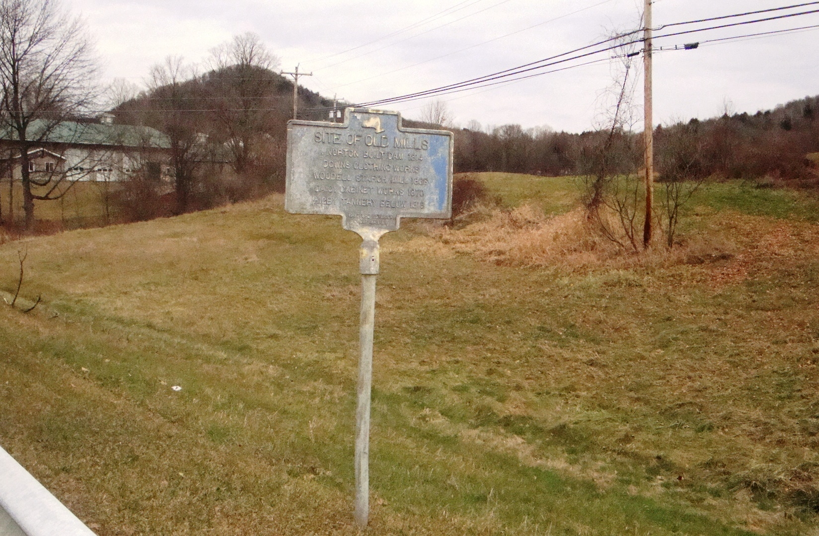 Site of Old Mills Marker