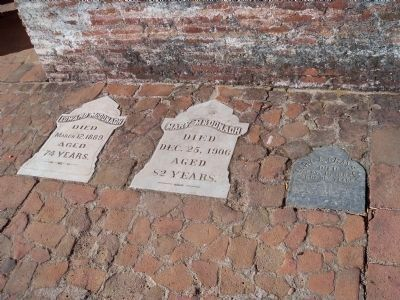 Grave Markers Near The Mission Entrance image. Click for full size.