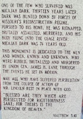 Sacking of Osceola Marker Text image. Click for full size.