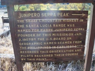 Junipero Serra Peak image. Click for full size.