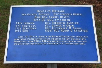 Beatty's Brigade Marker image. Click for full size.