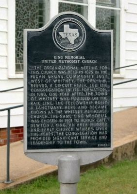 King Memorial United Methodist Church Marker image. Click for full size.