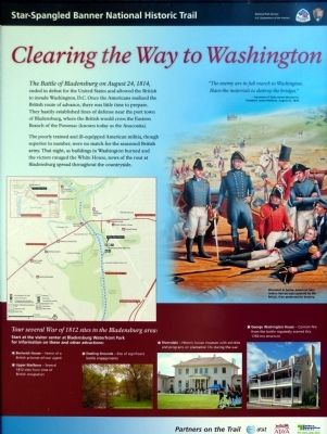 Clearing the Way to Washington Marker image. Click for full size.