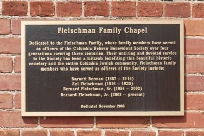 Fleishman Family Chapel Marker image. Click for full size.