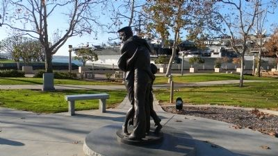 "The ""Homecoming"" statue</b> - on the Embarcadero, south of the USS Aircraft Carrier Memorial"" image. Click for full size."