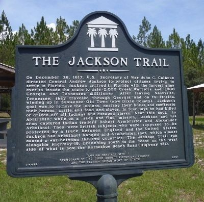 The Jackson Trail Marker image. Click for full size.