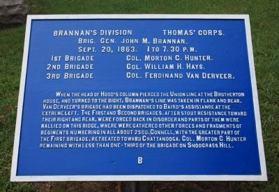 Brannan's Division Marker image. Click for full size.