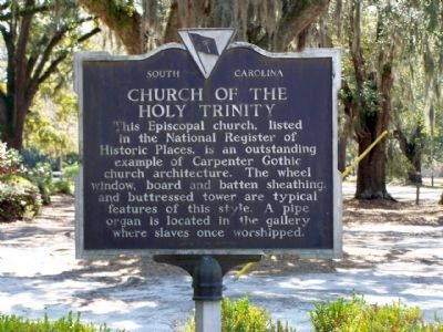 Church of the Holy Trinity Marker, reverse side image. Click for full size.
