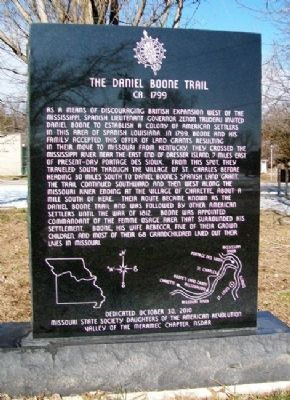The Daniel Boone Trail Marker image. Click for full size.
