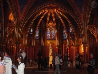 The lower level of Sainte-Chapelle image. Click for full size.