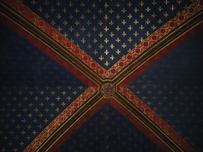 Ceiling of the lower level of Sainte-Chapelle image. Click for full size.