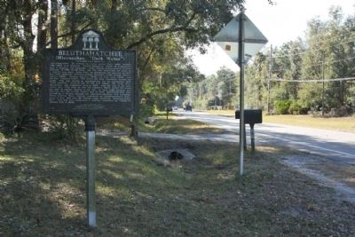 Beluthahatchee Marker, looking south image. Click for full size.