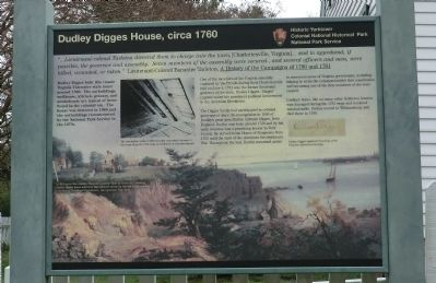 Dudley Digges House, circa 1760 Marker image. Click for full size.