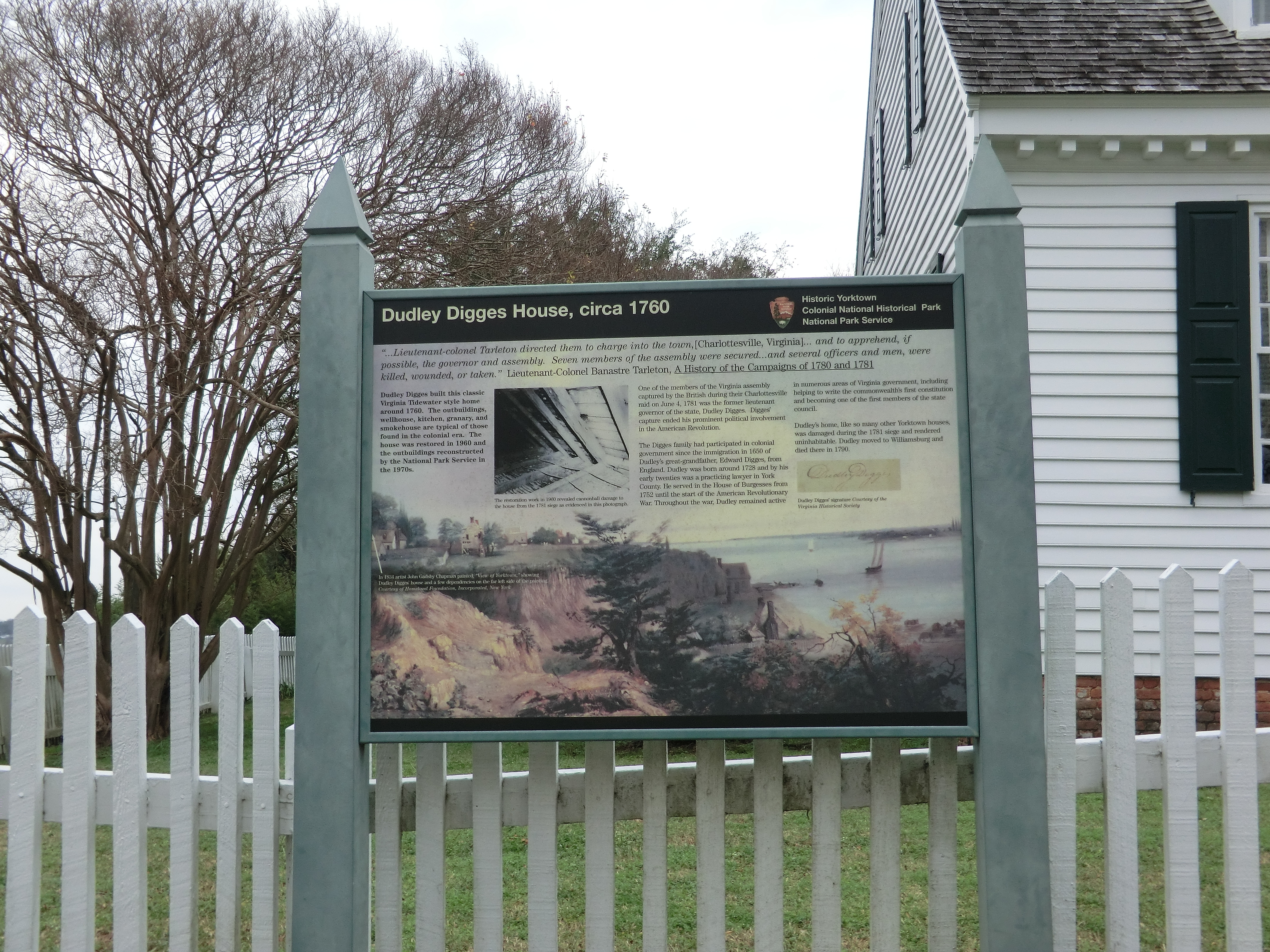 Dudley Digges House, circa 1760 Marker