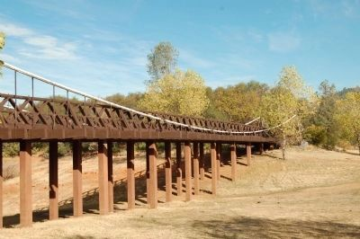 The Bidwell Bar Suspension Bridge at its Original Site image. Click for full size.