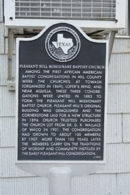 Pleasant Hill Missionary Baptist Church Marker image. Click for full size.