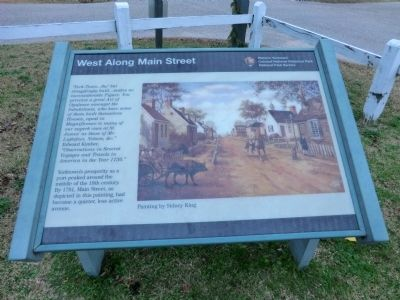 West Along Main Street Marker image. Click for full size.