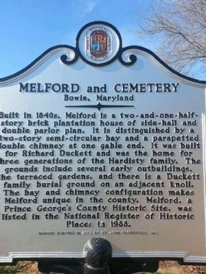 Melford and Cemetery Marker image. Click for full size.