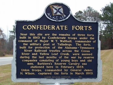 Confederate Forts Marker image. Click for full size.