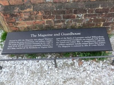 The Magazine and Guardhouse Marker image. Click for full size.