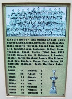 Kayo's Boys 1958 Marker image. Click for full size.