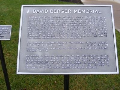 David Berger Memorial Marker image. Click for full size.