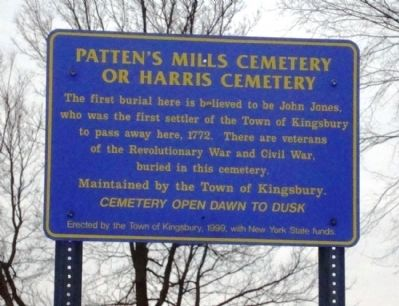 Patten's Mills Cemetery Marker image. Click for full size.