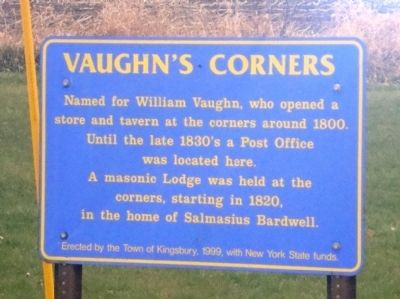 Vaughn's Corners Marker image. Click for full size.