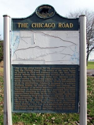 The Chicago Road Marker image. Click for full size.