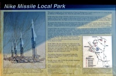 Nike Missile Local Park Marker image. Click for full size.