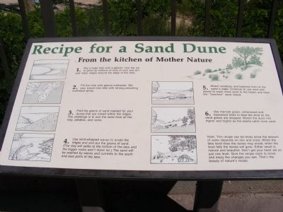 Recipe for a Sand Dune Marker image. Click for full size.