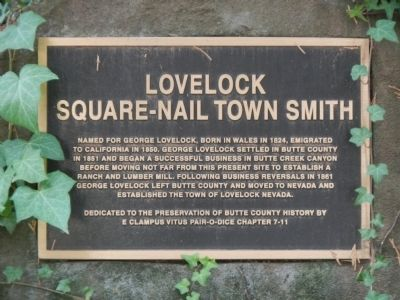 Lovelock Marker image. Click for full size.