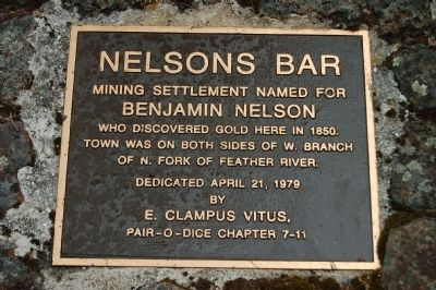 Nelson Bar Marker image. Click for full size.