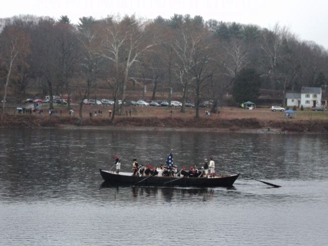 Washington Crossing the Delaware Re-enactment image. Click for full size.