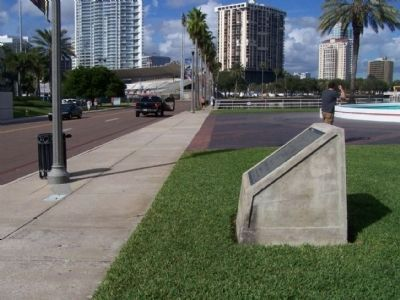 World Record Marker, looking northeast along Bayshore Drive SE image. Click for full size.