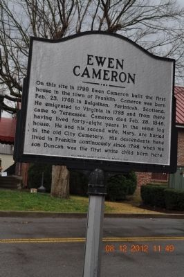 Ewen Cameron Marker image. Click for full size.