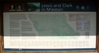 Lewis and Clark in Missouri Marker image. Click for full size.