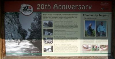 Katy Trail State Park 20th Anniversary Marker image. Click for full size.