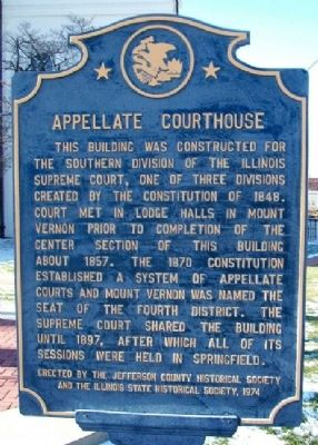 Appellate Courthouse Marker image. Click for full size.