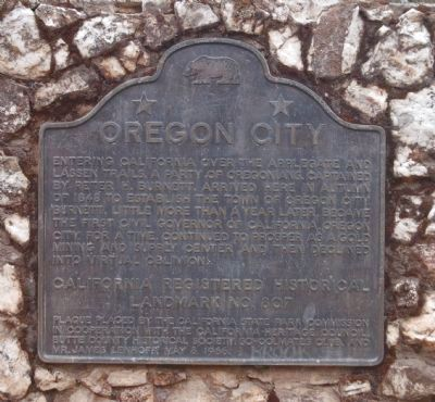Oregon City Marker image. Click for full size.