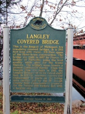 Langley Covered Bridge Marker image. Click for full size.