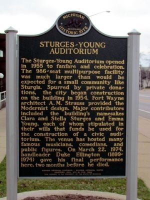 Sturges-Young Auditorium Marker image. Click for full size.